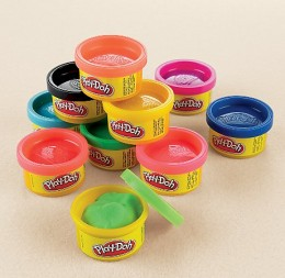 Play-doh now comes in many colors.