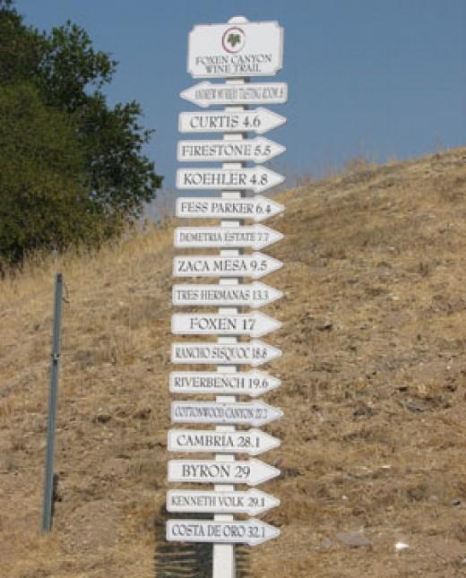 Foxen Canyon Road in Los Olivos, California