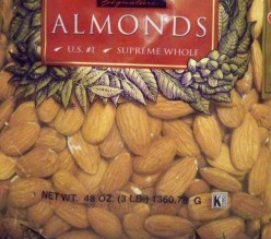 Almonds are good with so many recipes.