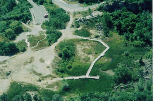 The boardwalk at Kerncliff Park shortly after it was constructed.
