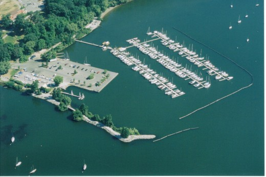 LaSalle Marina in summer in full operation.