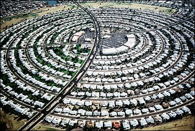 Urban sprawl like this is gobbling up more and more agricultural land leaving less to grow the food we need to live.