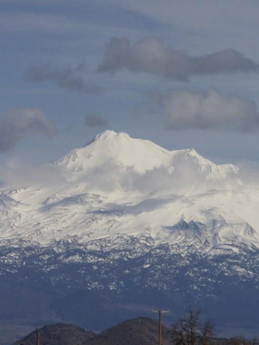 Mt. Shasta's north-western face.