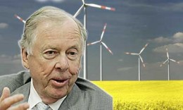Pickens seems less optomistic now that wind power has as bright a future as was previously thought.