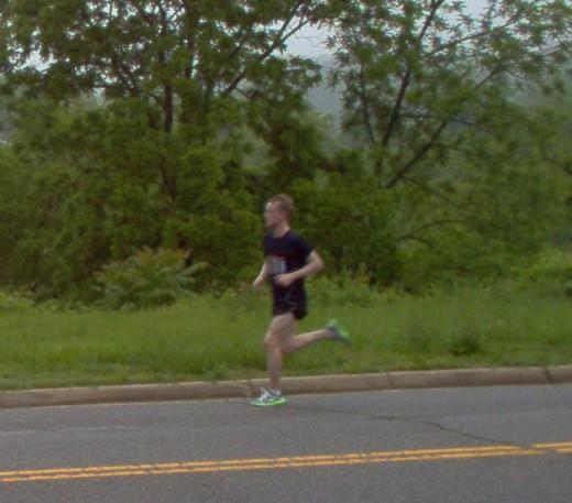 1st runner passing by.