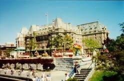 The impressive Empress Hotel in Victoria