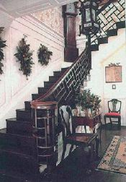 Staircase of Sotterley...does the ghost of George Plater III roam the stairs?
