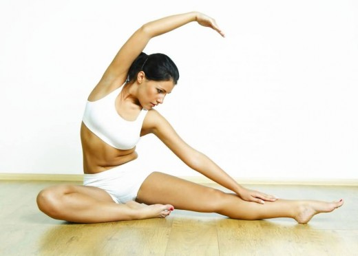 do yoga or some other exercises and consider using weight fluctuations