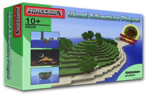 Pudding Huxtable's latest Minecraft Adventure Map pack, the Minecraft Island Adventure Playset