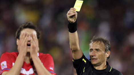 """""""A Wild Referee has appeared. The Referee uses Yellow Card. It's not very effective."""""""