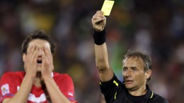 """A Wild Referee has appeared. The Referee uses Yellow Card. It's not very effective."""