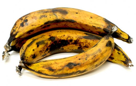 Bananas with dark spots