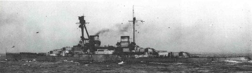 SMS Derfflinger photographed from the Port Quater, 1918