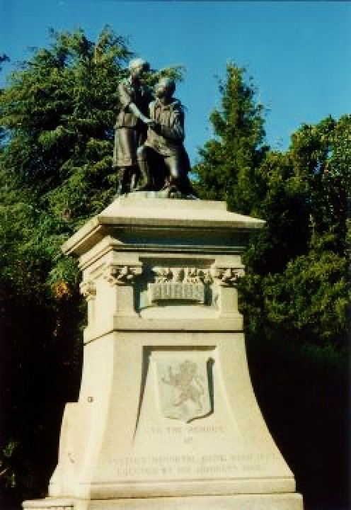 Robert Burns statue in Beacon Hill Park