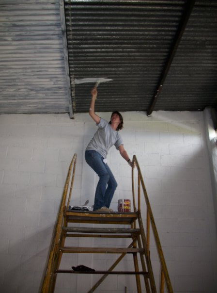 Me painting can you tell I'm afraid of heights