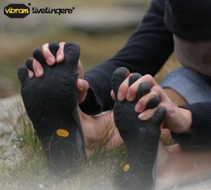 Vibram Five Fingers work on all sorts of terrain
