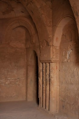 Inside one of the rooms at Qasr al-Kharana