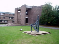 Main entrance of Churchill College, at Storey's Way, Cambridge