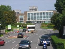 Main entrance to Swansea University