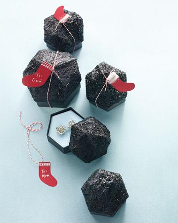 Black Lumps of Coal Jewelry Boxes