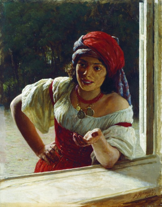 """""""Gypsy Woman"""" is the name of this painging"""