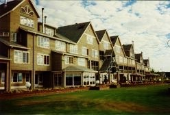 A portion of the Inn at Semiahmoo facing the Blaine harbor.