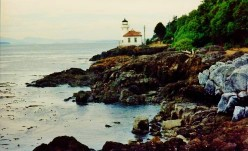 The Lime Kiln Lighthouse on San Juan Island