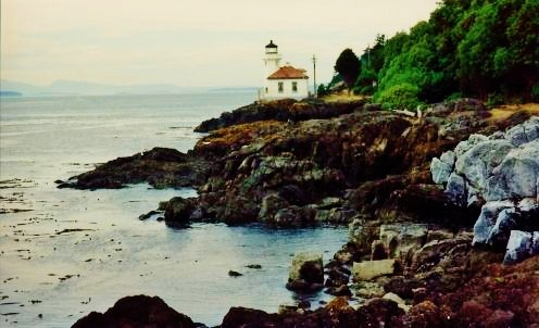 The Lime Kiln Lighthouse on San Juan Island