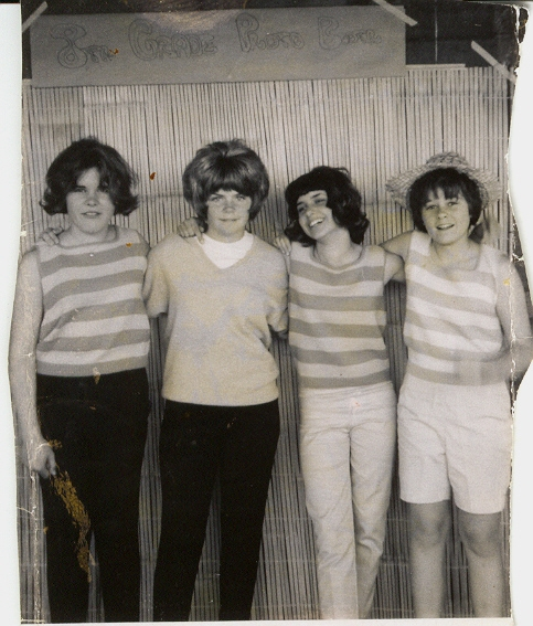 Me (second one in from left) and junior high school pals