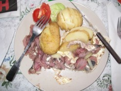 Traditional surstrmming with potatoes and tunnbrd