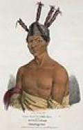 Waa-Kaun-see-Kaa. Winnebago orator Waukon Dacora painted at the 1825 Prairie du Chien treaty conference. Painte in 1825 by James Otil Lewis