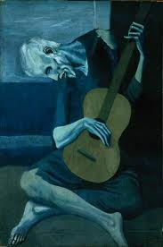 "An amazing painting, Pablo Picasso, ""The Old Guitarist"""