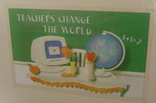 Refridgerator sticker. A gift from an old student of mine. Priceless!