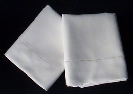 Freshly Cleaned Irish Linen Pillowcases