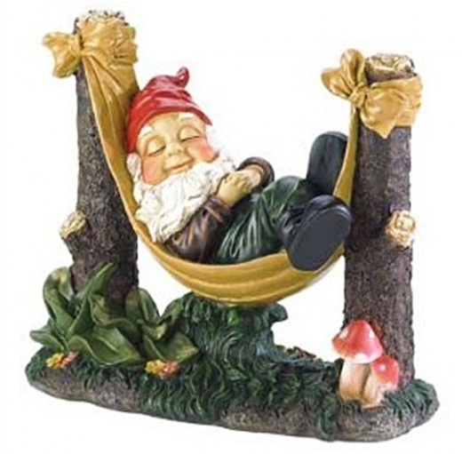 Sleeping Garden Gnome, photo source Amazon.com - 2013 Cute Funny Gifts for under $10 $20 $30 $40 $50 Gift Ideas