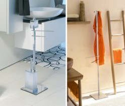 Designer Chrome Towel Stands for a Clutter Free Bathroom
