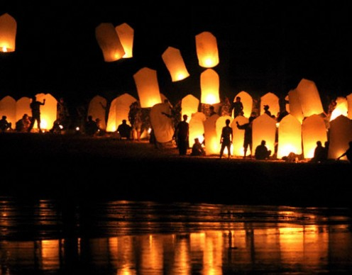 Sky Lanterns are frequently used in large festivals held around the world.