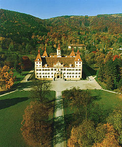 Aerial view of the Eggenberg Castle