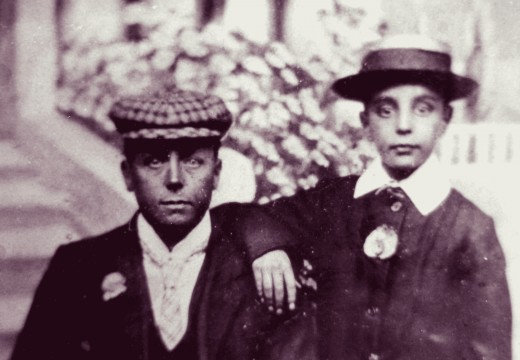 My Grandfather, as a boy, on the right, with his father on the left