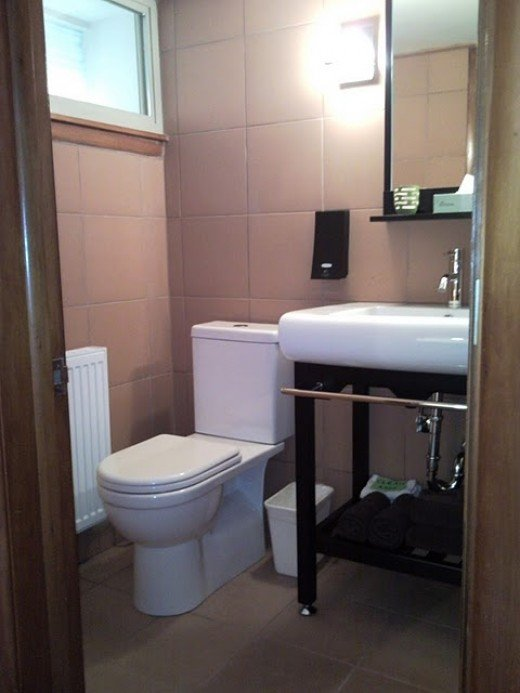 save with dual flush toilet and soap dispenser