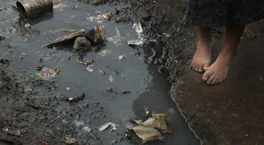 cholera contaminated water