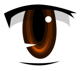 An anime stylized eye. This file is licensed under the Creative Commons Attribution-Share Alike 2.5 Generic license.