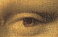 Mona's Lisa Eye  This image (or other media file) is in the public domain because its copyright has expired.