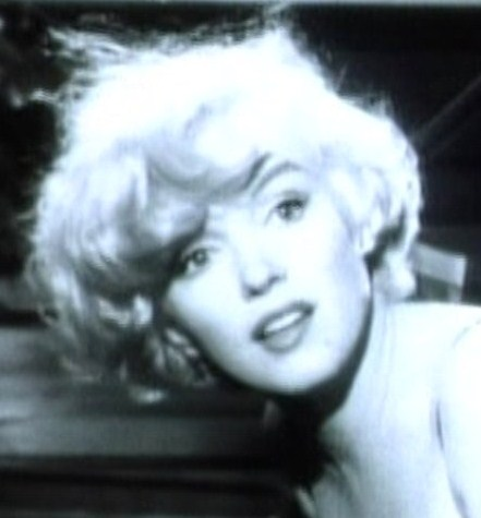 """Marilyn Monroe pictured in film """"Some Like It Hot."""""""