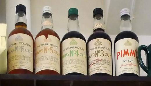 Pimms antique bottles