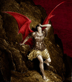 Satan, originally one of God's highest ranking angels.