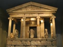 An ancient monument to the Greek gods in the photo. Throughout the old continent of Europe, there are lots of statues and other monuments to remind us about the old religions?