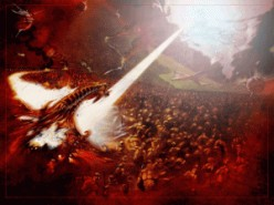 The Battle of Armageddon...the War that will truly end all wars!  Then  Jesus cleanses the earth and begins His reign on Earth.