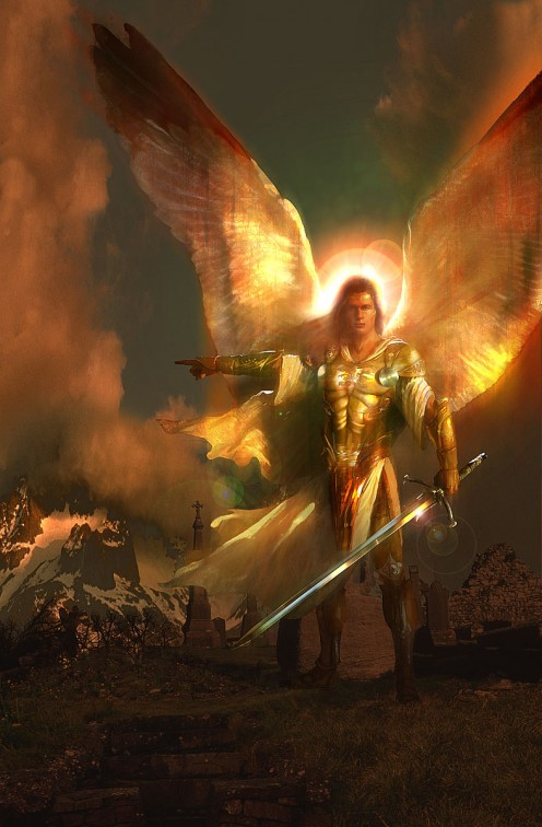The Archangel Michael who, it is believed, will lead Heaven's army of angels in the final battle.