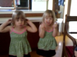 hear no evil.... or my twin sister will hit you!